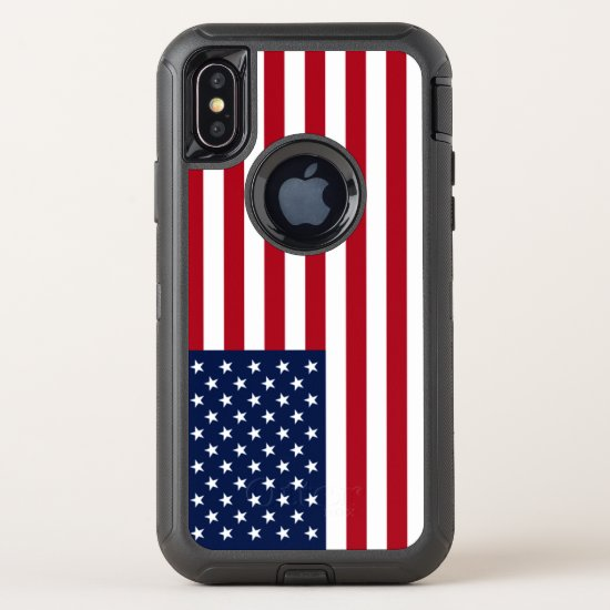 American Flag USA OtterBox Defender iPhone X Case