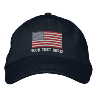 American Flag USA Personalize it! Large Embroidery Cap