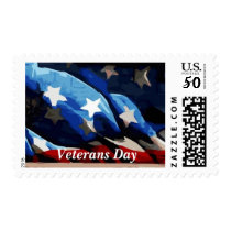American Flag Vector Veterans Day Postage
