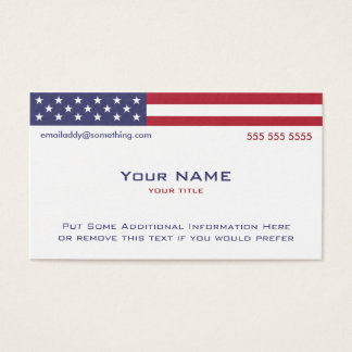 American Flag version 2 Business Card