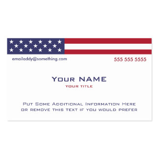 American Flag version 2 Double-Sided Standard Business Cards (Pack Of 100)