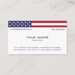 Independence day business cards zazzle american flag version 2 business card colourmoves