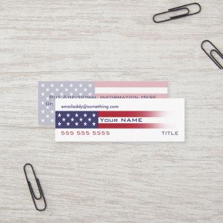 American Flag version 6 Mini Business Card