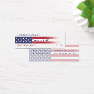 American Flag version 6 Mini Business Card