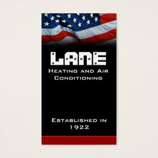 American Flag Vertical Business Card