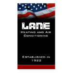American Flag Vertical Business Cards