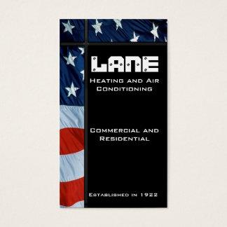 American Flag Vertical Sidebar Business Card