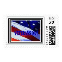 American Flag Veterans Day Postage Stamp