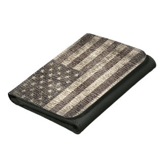 American Flag Vintage 17 Leather Wallet