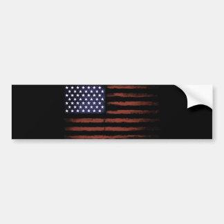 American flag Vintage Bumper Sticker