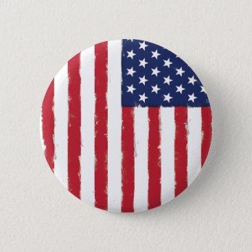 American flag Vintage Button