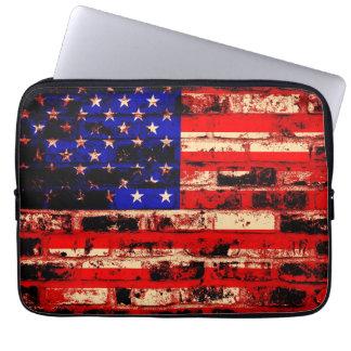 American Flag Vintage Computer Sleeve