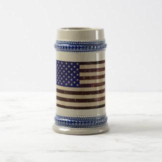 American Flag Vintage Grunge Beer Stein