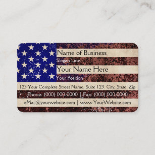 American flag business cards templates zazzle american flag vintage grunge business card colourmoves