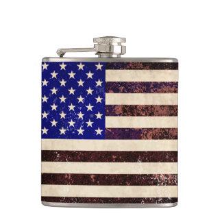 American Flag Vintage Grunge Flask