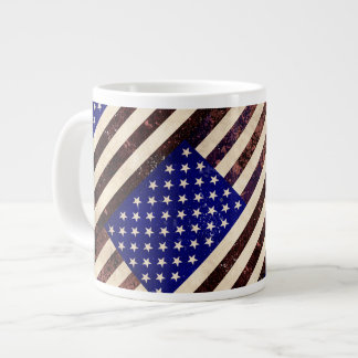 American Flag Vintage Grunge 20 Oz Large Ceramic Coffee Mug
