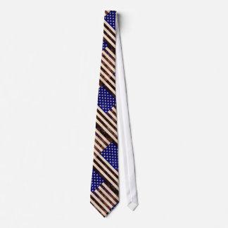 American Flag Vintage Grunge Tie