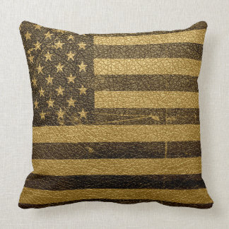 American Flag Vintage Leather Pillows