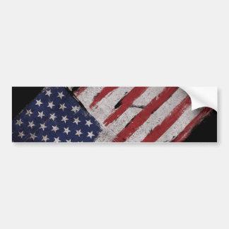 American flag Vintage Patriot Bumper Sticker