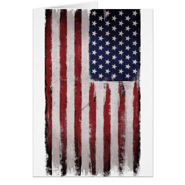 American flag Vintage Patriot Card