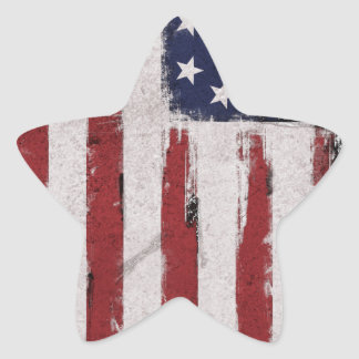 American flag Vintage Patriot Star Sticker