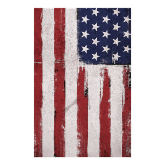 American flag Vintage Patriot Stationery