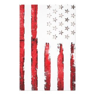 American flag Vintage RED grunge Stationery