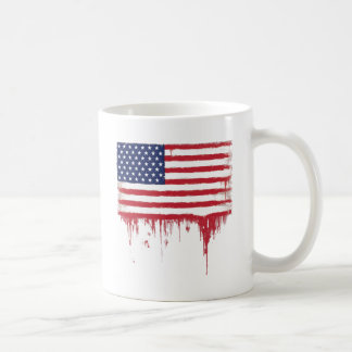American flag Vintage Splashes Coffee Mug