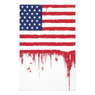 American flag Vintage Splashes Stationery