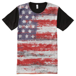 american flag, vintage style All-Over print shirt