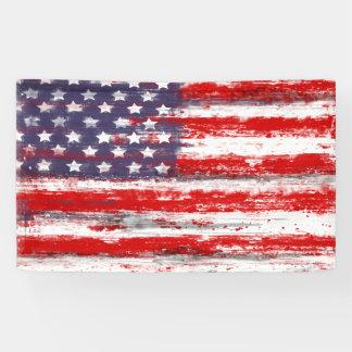 American flag ,vintage style banner