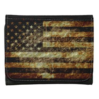 American Flag Vintage Trifold Wallet