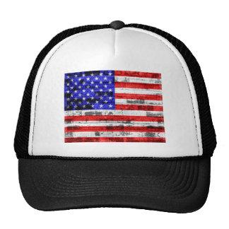 American Flag Vintage Trucker Hat