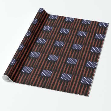 American flag Vintage Wrapping Paper