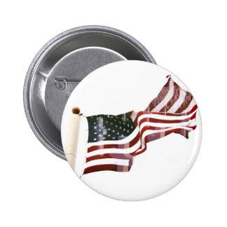 American Flag w/Crosses Button