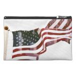 American Flag w/Crosses Travel Accessories Bag