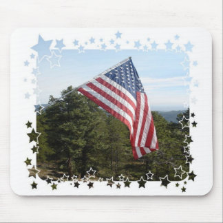 American Flag w/stars Mouse Mats