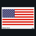 """American flag wall art decal for 4th of July party<br><div class=""""desc"""">American flag wall art decal for 4th of July / independance day party. Patriotic wall art decoration for bedroom, office, study, student dorm, kids room, party, travel company, festival, event, business company office etc. Country flag design with stars and stripes. Custom decorations. Removable sticker. USA pride. Small medium and large...</div>"""
