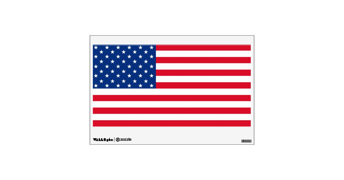 American Flag Wall Decal Decoration