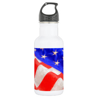 American Flag Water Bottle (18 oz)
