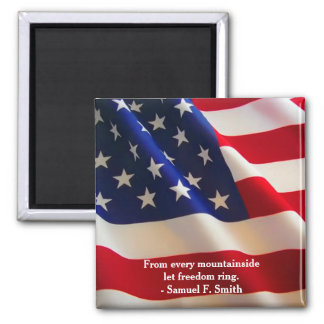 American Flag Wave Customizable Magnet