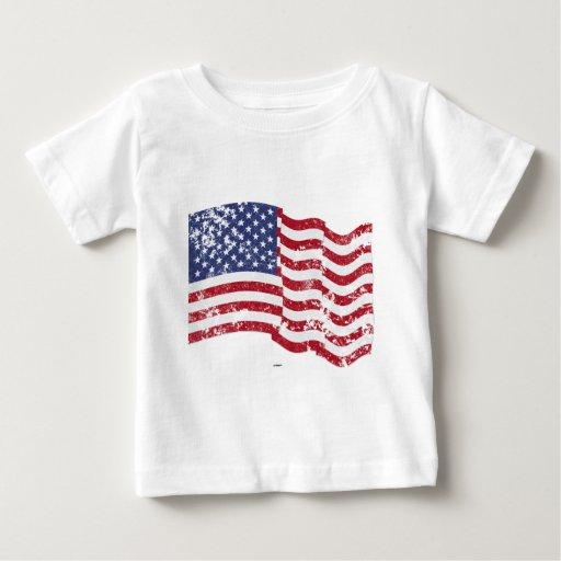 American Flag Waving - Distressed Infant T-shirt