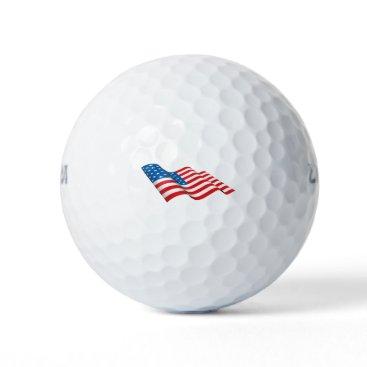 American Flag waving Golf Balls