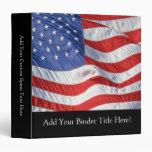 American Flag, Waving in Wind Binders
