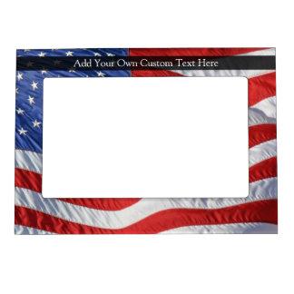 American Flag, Waving in Wind Magnetic Frames
