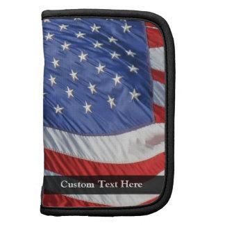 American Flag, Waving in Wind Folio Planner