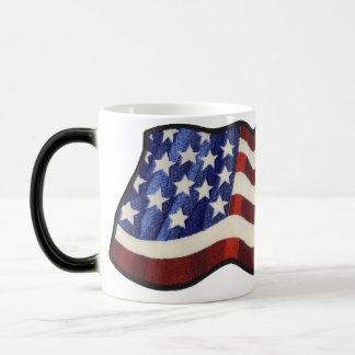 American Flag Waving Morphing Coffee Mug