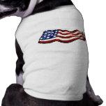 American Flag Waving Patriotic Dog T Shirt