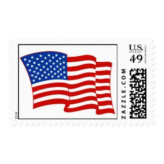 American Flag (waving) Postage