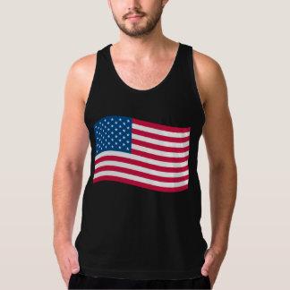 American Flag Waving Tank Top